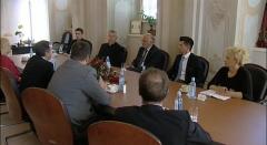 Predsjednik Hrvatskog Sabora Josip Leko u Ludbregu na sastanku na temu Dana ludbreške Svete Nedjelje